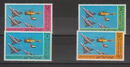 Emirats Arabes Unis 1980 Avions Et Hélicoptère 99-102 4 Val ** MNH - Emirats Arabes Unis