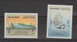 Emirats Arabes Unis 1986 Bateaux 189-190 2 Val ** MNH - Emirats Arabes Unis