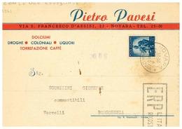 NOVARA CARTOLINA COMMERCIALE PAVESI - Novara