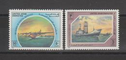 Emirats Arabes Unis 1989 Hydravion Et Bateau 260-261 2 Val ** MNH - Emirats Arabes Unis