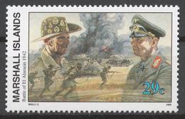 Marshall Islands 1992 Mi# 444** WW2, BATTLE OF EL ALAMEIN - Islas Marshall