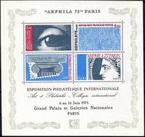 FRANCE Bloc    7 ** Arphila 75 à PARIS Exposition Philatélique (CV 12 €) Sous La Faciale - Mint/Hinged