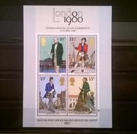 FRANCOBOLLI STAMPS GRAN BRETAGNA 1979 MNH** NUOVI CENTENARIO MORTE ROWLAND HILL FOGLIETTO - 1952-.... (Elisabetta II)