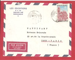 Y&T N°470 NOSSI BE     Vers FRANCE  1972 - Madagascar (1960-...)