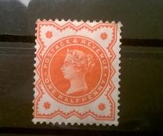 FRANCOBOLLI STAMPS GRAN BRETAGNA 1887 MLH NUOVO NON USATO RARITA ANNIVERSARIO REGGENZA REGINA VITTORIA LINGELLATO - 1840-1901 (Regina Victoria)