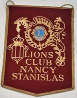 Rare Fanion Lion's Club Nancy Stanislas - Organisations