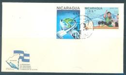 NICARAGUA - FDC - 1988 - 10 ANNIV. UPN -  Yv 1500 PA 1224 -  Lot 18447 - Nicaragua