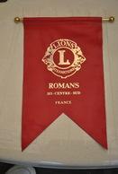 Rare Fanion Lion's Club Romans 103 Centre Sud - Organisations