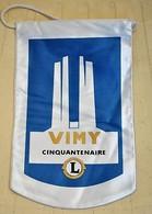 Rare Fanion Lion's Club Vimy Cinquantenaire - Organizaciones