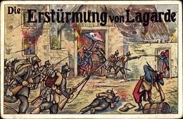 Artiste Cp Lagarde Moselle, Die Erstürmung Der Stadt, Bayerische Jäger, I. WK - Other Municipalities