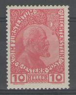 LIECHTENSTEIN:  N°2a * (papier Mat)       - Cote 90€ - - Liechtenstein