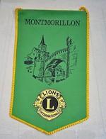 Rare Fanion Lion's Club Montmorillon - Organizations