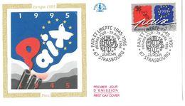 FDC Europa 1995 50ème Anniversaire Paix 1945 (67 Strasbourg 29/04/1995) - FDC