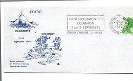 1 ER JOUR FLAMME FOIRE DE CLERMONT FERRAND 1983 - Oblitérations Mécaniques (flammes)