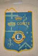Rare Fanion Lion's Club Nice Comte - Organizaciones