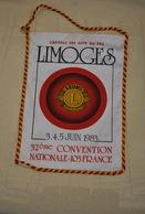 Rare Fanion Lion's Club Limoges Convention Nationale 1983 - Organizations