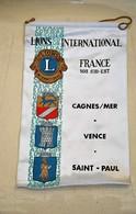 Rare Fanion Lion's Club Cagnes Sur Mer ,Vence , Saint-paul - Organizations