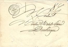 1849- Enveloppe En Port Du De AUDRUICQ ( Pas De Calais ) Cad T15 Taxe 4 D Pour Dunkerque - Storia Postale