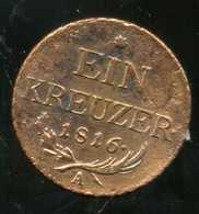 AUTRICHE 1 Kreuzer 1816 A - Autriche