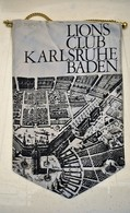 Rare Fanion Lion's Club Karlsruhe Baden - Vereinswesen