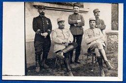 Carte Photo  -- Groupe D Officiers Français - Guerra 1914-18