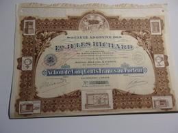 Ets JULES RICHARD (1922) - Actions & Titres