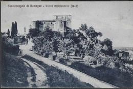ROCCA MALATESTIANA - SANTARCANGELO DI ROMAGNA - FORMATO PICCOLO - EDIZ. GIORGETTI - VIAGGIATA 13.09.1929 - Castelli