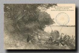 BENIN Dahomey Voyage En Riviere Preparation Du Repas  (scan Recto-verso) FRCR00028 P - Dahomey