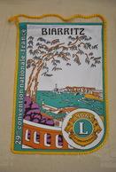 Rare Fanion Lion's Club Biarritz - Organisations