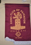 Rare Fanion Lion's Club Paignton Torbay - Organisations