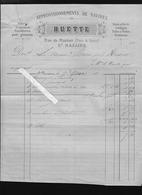 Saint Nazaire 44 - Approvisionnement Voilier La Marie Mars 1877 - 3 Factures Nicollon, Huette, Simoneau - 1800 – 1899
