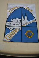 Rare Fanion Lion's Club Chartres Vallée De L'Eure - Organisations
