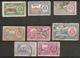 INDIA - BHOPAL OFFICIALS 1936 - 1947 SETS SG O336/O341b; O344/O345 FINE USED Cat £15 - Bhopal