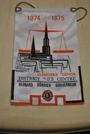 Rare Fanion Lion's Club Chartres Doyen Bernard Bordier Gouverneur 1974-1975 - Organisations