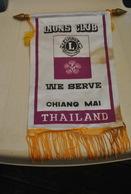 Rare Fanion Lion's Club Chiang Mai Thailand - Organisations