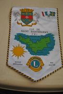 Rare Fanion Lion's Club Saint Barthélémy - Organisations