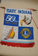 Rare Fanion Lion's Club Gary Indiana - Organisations