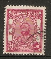 INDIA - BIJAWAR 1935 - 1936 6p SG 2 FINE USED Cat £8 - Bijawar