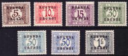 Ruanda TX 0009/14* Série + 13a - Ruanda-Urundi
