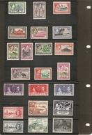 BRITISH SOLOMON ISLANDS 1937 - 1951 SETS MOUNTED MINT Cat £94+ - British Solomon Islands (...-1978)