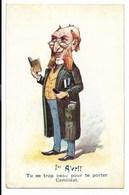 1er AVRIL - Carte Humoristique...  Tu Es Trop Beau Pour Te Porter Candidat...  (petite Fente En Haut) - 1er Avril - Poisson D'avril