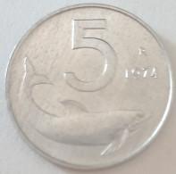 1974 - Italia 5 Lire - 1946-… : Repubblica