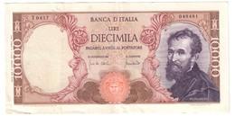 Italy 10000 Lire Michelangelo 08/06/1970 - [ 2] 1946-… : Républic