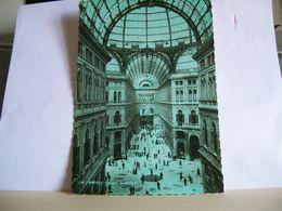 1941 - Napoli - Galleria Umberto I - Francobollo 20 Cent. Hitler E Mussolini - Negozio L'Artistica Costantino  Vera Foto - Francobolli (rappresentazioni)