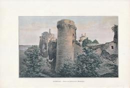1901 - Phototypie Couleur - Plédéliac (Côtes-d'Armor) - Les Ruines Du Château - FRANCO DE PORT - Vieux Papiers