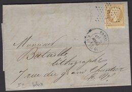 PARIS: Pli Belle Facture Avec 10c Empire Dentelé  Oblt Etoile 24 + CàDate PARIS R. DE CLERY Pour PARIS - 1849-1876: Période Classique