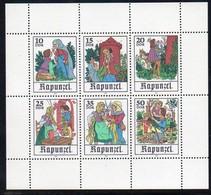 DDR 1978 MiNr. 2382/ 2387  ** /mnh ;  Kleinbogen Märchen: Rapunzel - Märchen, Sagen & Legenden
