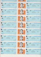 Argentina 1982 Malvinas Military Command 2v Sheetlet (see Scan) Shtlt Is 1x Folded ** Mnh (F7612) - Ongebruikt
