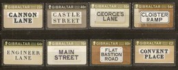 Gibraltar 2016 Micheln° 1756-1763 *** MNH Historic Streets Rues Historiques - Gibraltar