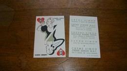 Carte Parfumée Ancienne Crème Simon - Perfume Cards